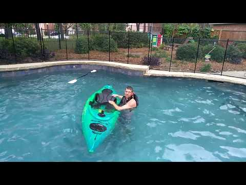Trying to flip an Equinox Kayak the 10 4 sit-in - YouTube