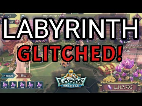 THE LABYRINTH IS GLITCHED! - Lords Mobile