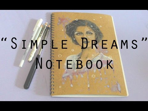 Simple Dreams - Notebook Drawing Timelapse (Polychromos Colour Pencils)