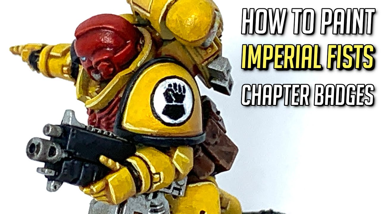How to paint an Imperial Fists Chapter Badge