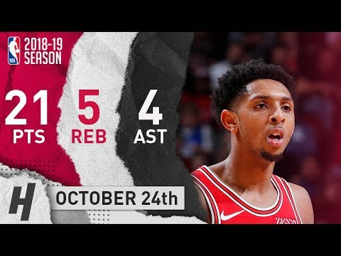 Cameron Payne Full Highlights Bulls vs Hornets 2018.10.24 - 21 Pts, 4 Ast, 5 Reb!