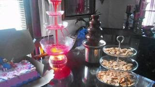 nostalgia chocolate and punch fountain
