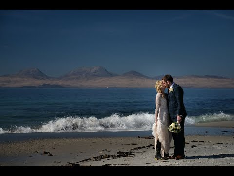 Intimate, delicate and romantic wee wedding video at Crear exclusive beach