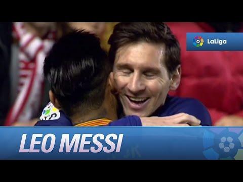 Leo Messi marca un hat-trick frente al Rayo Vallecano