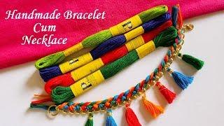 DIY || How To Make Designer Bracelet \ Braided Tassel Necklace || Handmade Necklace Tutorial !!!