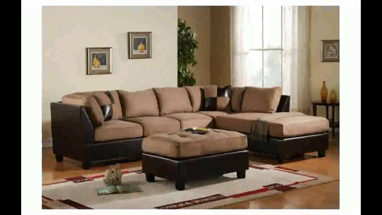 Living room designs with brown couch youtube for Home decor sofa designs
