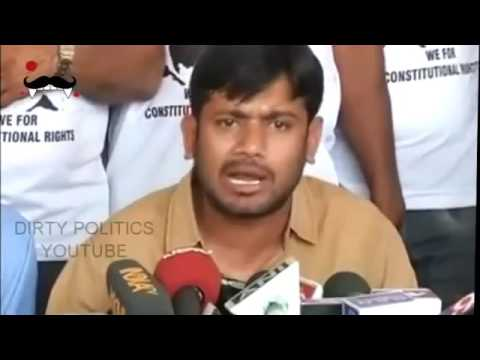 JNUSU President Kanhaiya Kumar Speaks outside University of Hyderabad after entry denied 2