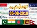 UAE Dirham(AED) Rates - 05 August 2018 in Hindi/Urdu | INDIA | Pakistan | Bangladesh | Nepal