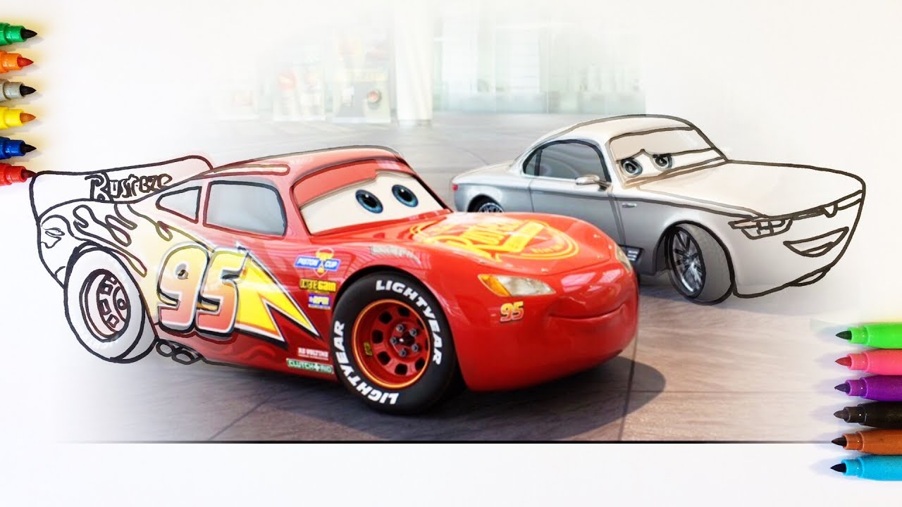 Cars 3 Lightning McQueen And Sterling Silver Coloring