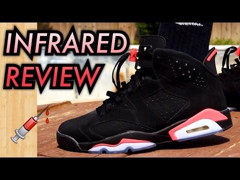 2014 Black Infrared Air Jordan 6 W OnFeet