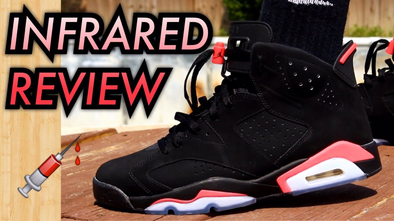 04c782e8df09c7 2014 Black Infrared Air Jordan 6 W  On-Feet Review - YouTube