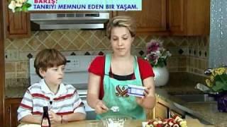 Cooking With Kids Fun Fruit Sticks With Yummy Vegan Dip In English