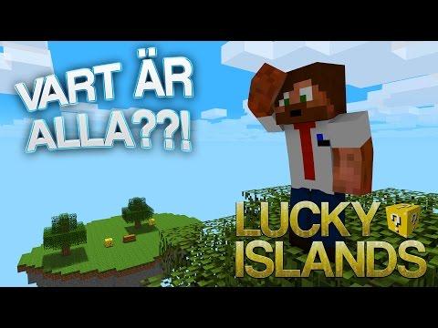 VART ÄR ALLA??!   Lucky Islands på Cubecraft
