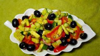 Постный праздничный салат. Постные рецепты на канале Кухня на любой вкус!