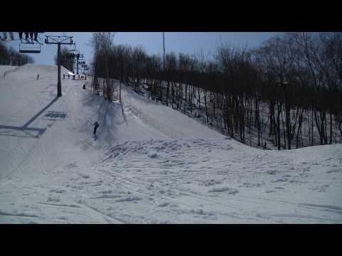 Snowboarding Double Cork Attempts