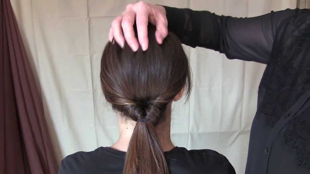 Tutorial: Quick and Easy Twist Ponytail Hairstyle - YouTube