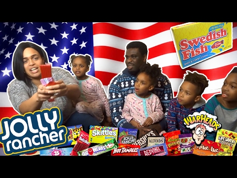 BRITISH FAMILY TRYING AMERICAN CANDY & SODA!!