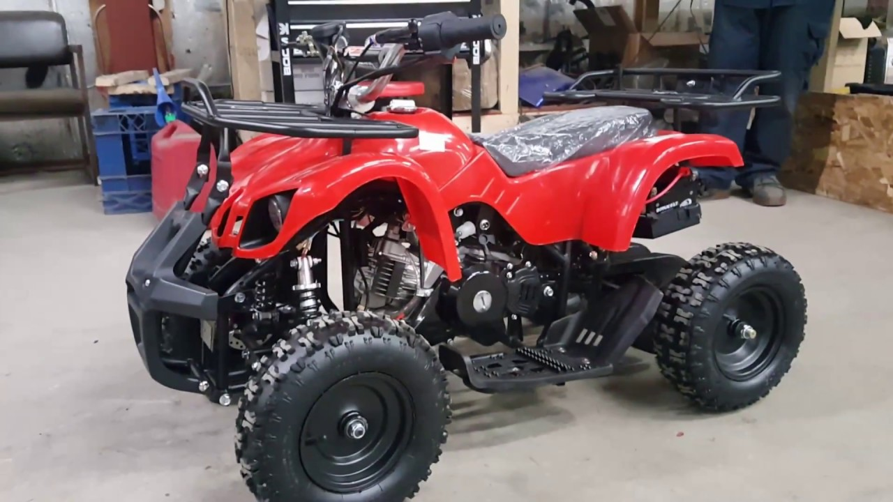small resolution of 50cc kids atv four wheeler quad model 7b how to start easily product features