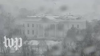 Watch as a winter storm unleashes snow, ice and rain across U.S.