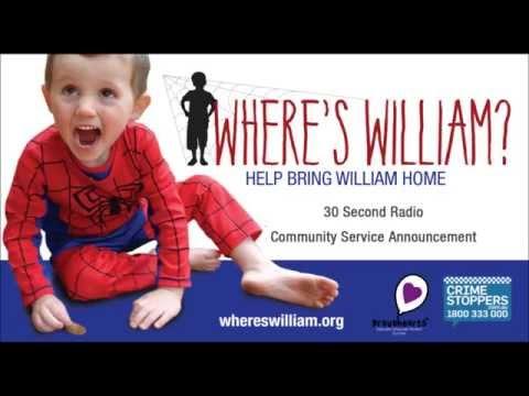 Where's William? Radio Community Service Announcement