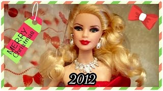2012 / 28 Years of Holiday Barbie Dolls / Christmas Collection Advent / 2012 Holiday Barbie Doll