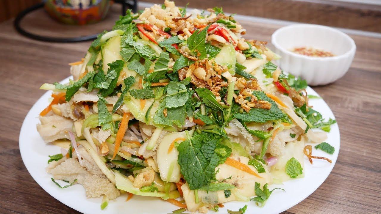 GỎI / NỘM - Cách làm món Gỏi Lòng Bò bóp thấu thơm ngon thật nhanh và đơn  giản by Vanh Khuyen - YouTube