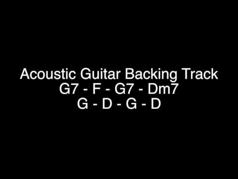Acoustic Guitar Backing Track - G Mixolydian to G Major