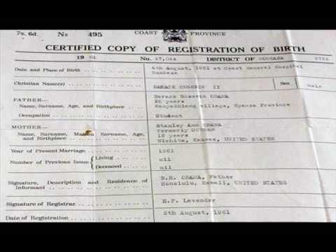 obama\'s Kenyan birth certificate - YouTube