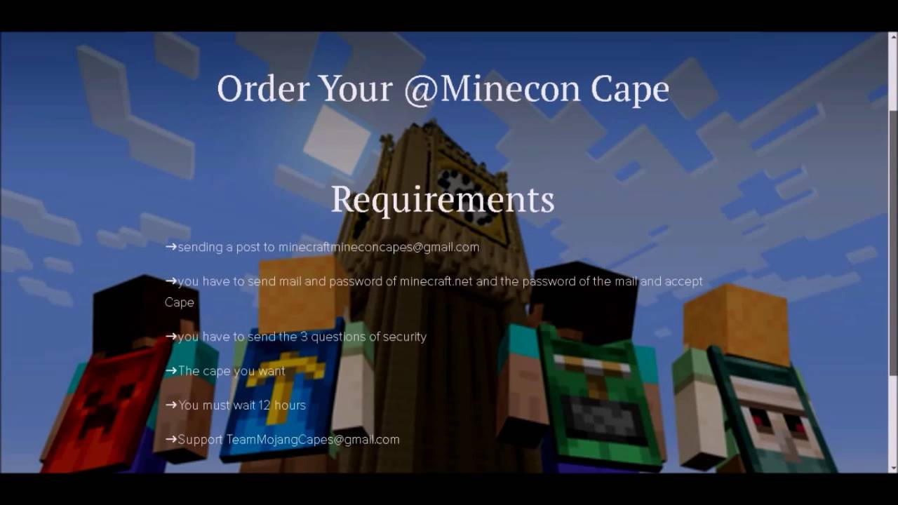 How to get a FREE 2016 Minecon Cape! [2016] [Working
