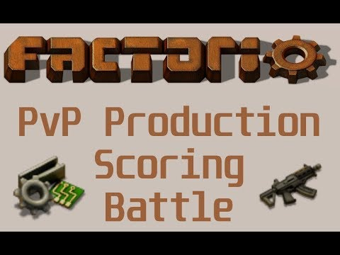 Factorio - PVP Production Scoring Battle (Teams Multiplayer Event)
