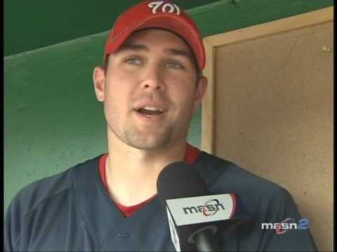 Craig Stammen talks with Debbi Taylor about his feelings towards facing the Reds