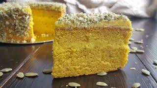 Уютный ТЫКВЕННЫЙ торт с тыквенным кремом 🍁 простой и вкусный рецепт 🍁pumpkin cake recipe