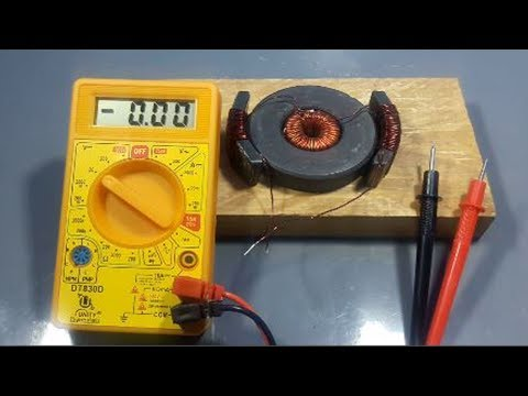 Free energy electricity generator - simple science experiment projects at home 2018