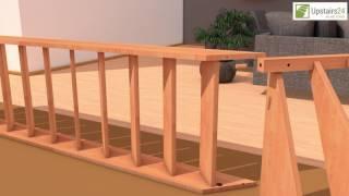 Vidéo: Escalier en bois Savoy: 1/4 tournant [SY5]