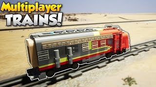 MULTIPLAYER TRAINS & Canyon Map! - Brick Rigs #11 - Brick Rigs Multiplayer Gameplay & Update!