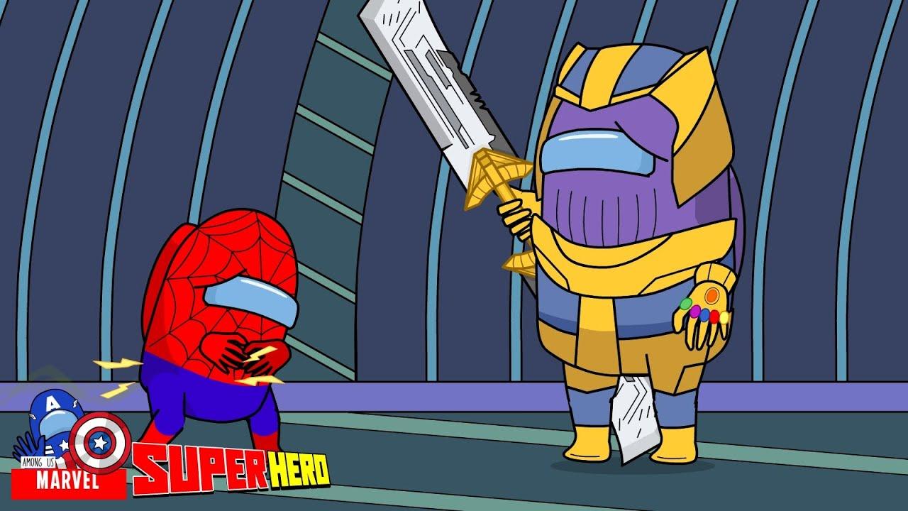 Spider Man Got Stomach Ache - Among Us Marvel - Among Us SuperHero