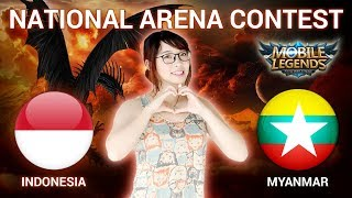 INDONESIA VS MYANMAR - National Arena Contest Cast by Kimi Hime - 17/07/2018