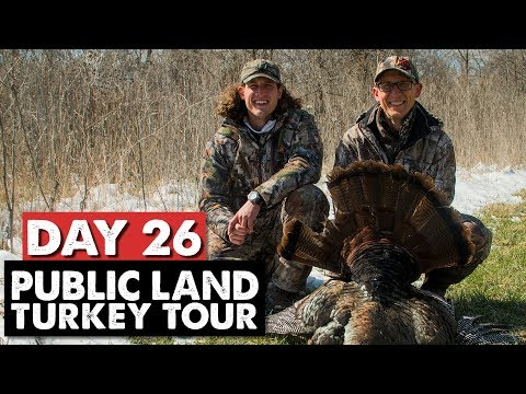 PUBLIC LAND TOM IN THE SNOW! - Public Land Turkey Tour Day 26