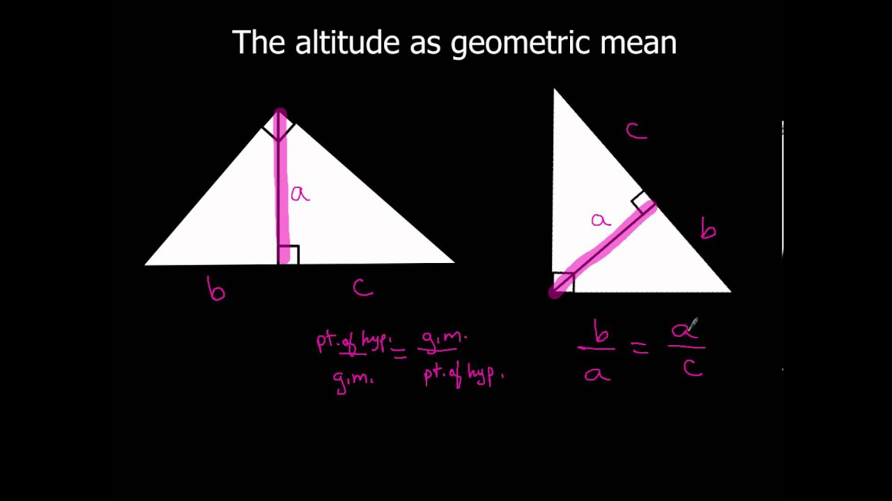 7 3 Using Similar Right Triangles More Examples Of Altitude As Geometric Mean