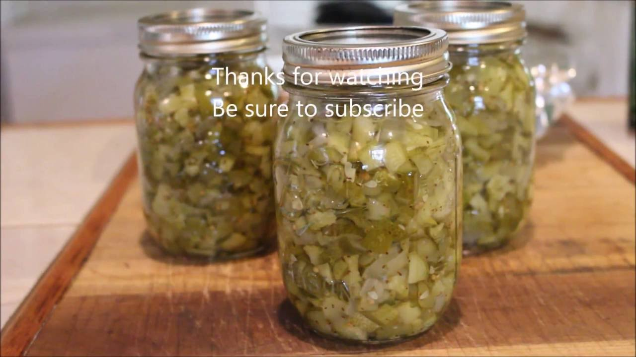 Sweet Pickle Relish Youtube