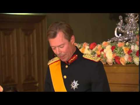 Wedding Gala Dinner of Prince Guillaume and Countess Stephanie de Lannoy (VIDEO)