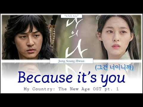 정승환 (Jung Seung Hwan) - Because It's You (My Country: TheNew Age OST Part 1) [가사 HAN/ROM/ENG]