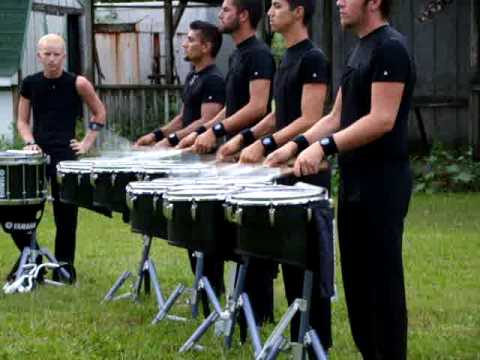 bluecoats 2009, tenors play flam 1-2-3