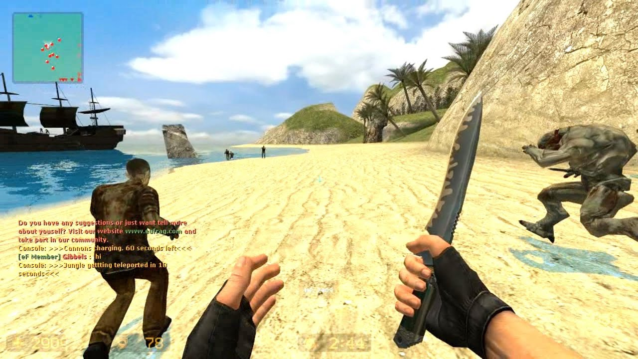 Counter Strike Source Zombie Escape Mod Online Gameplay On Pirates Of The Caribbean Map Youtube