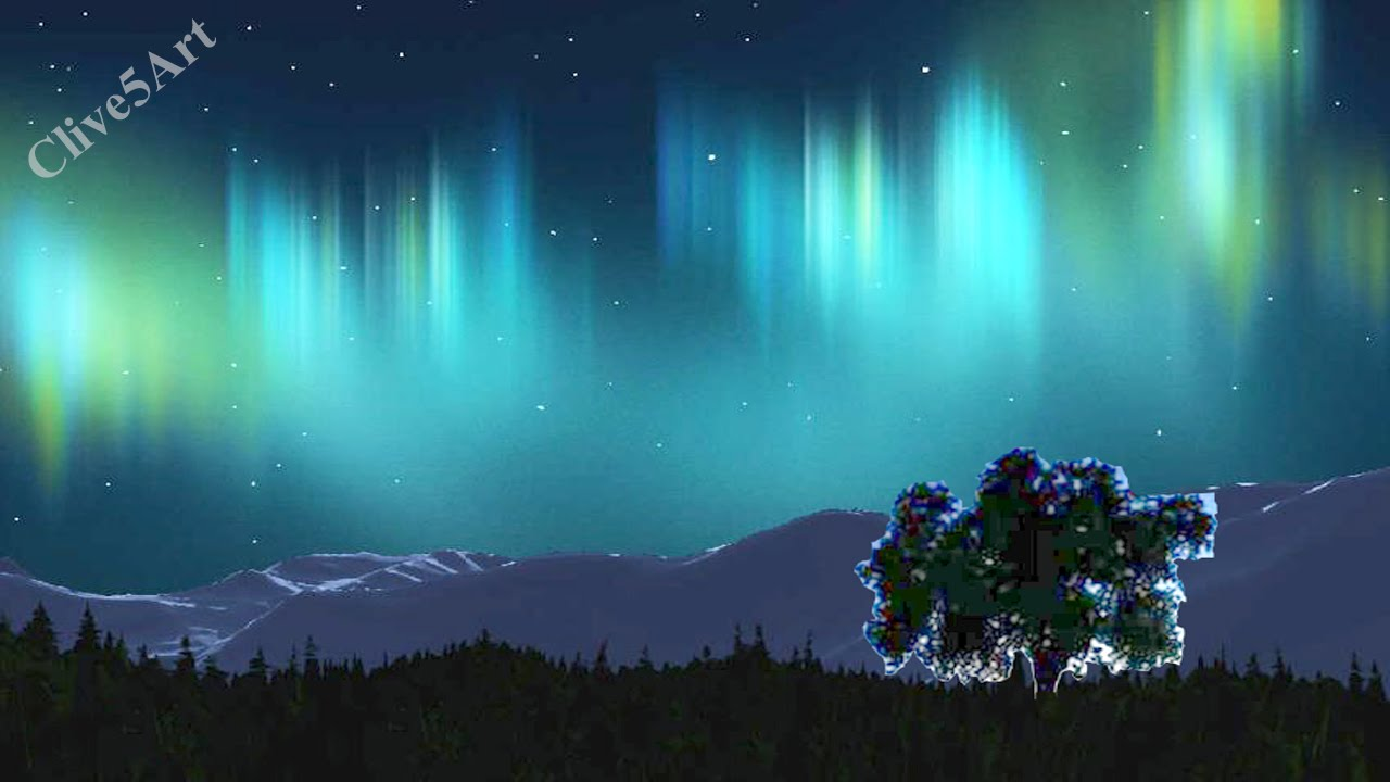 How Draw Northern Lights Step Step