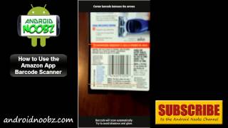 Amazon Android App: How to Scan Barcodes to Find Better Prices - Android Noobz(How to Scan Barcodes with the Amazon Android App See More: http://androidnoobz.com/2014/amazon-android-app/ Everyone knows that Amazon is the top ..., 2014-04-03T20:14:13.000Z)