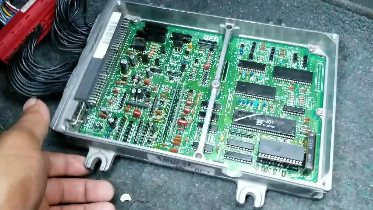 P28 Vtec Ecu Burnt Wiring Diagrams Wire Diagram Clone P06 Youtube Chip