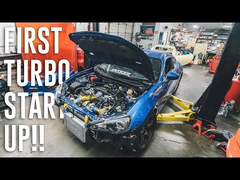 THE BRZ IS OFFICIALLY BOOSTED! *FIRST START*