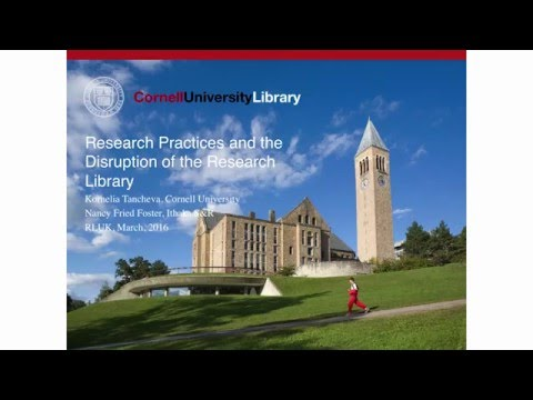 RLUK16 | Research practices and the disruption of the research library