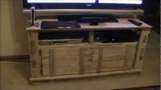 Wood Pallet Tv Stand Project